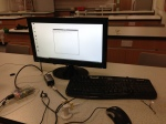 Raspberry Pi hooked up to the monitor